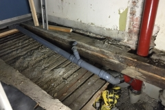drain renovation for this new bathroom / afløbs renovering for nyt badeværelse